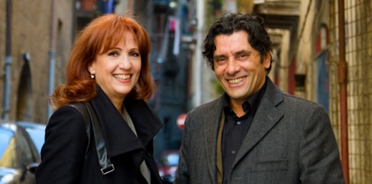 Marina Tagliaferri (Giulia) e Antonio Pennarella (Vintariello) - Un posto al sole