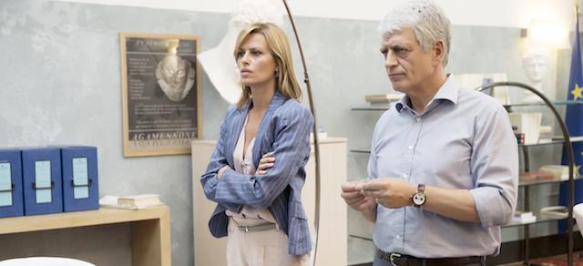 Romanzo siciliano, Claudia Pandolfi e Fabrizio Bentivoglio
