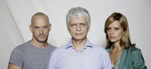 Filippo Nigro, Fabrizio Bentivoglio e Claudia Pandolfi - Romanzo siciliano