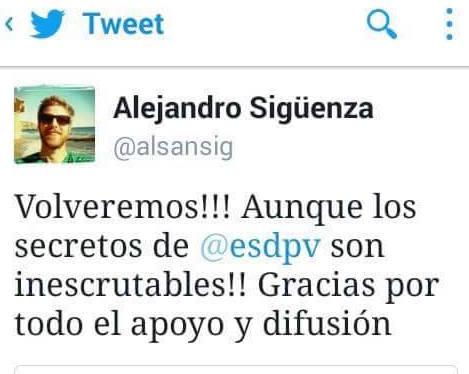 Alejandro Siguenza su Twitter