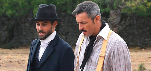 RAMIRO con ALFONSO, soap Il Segreto