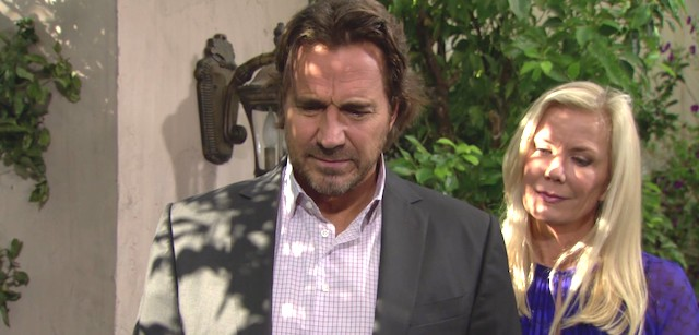 Ridge e Brooke visitano la tomba di Stephanie Forrester - Beautiful