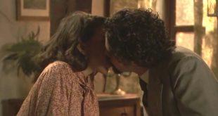Il bacio tra Emilia e Cesar - Il segreto