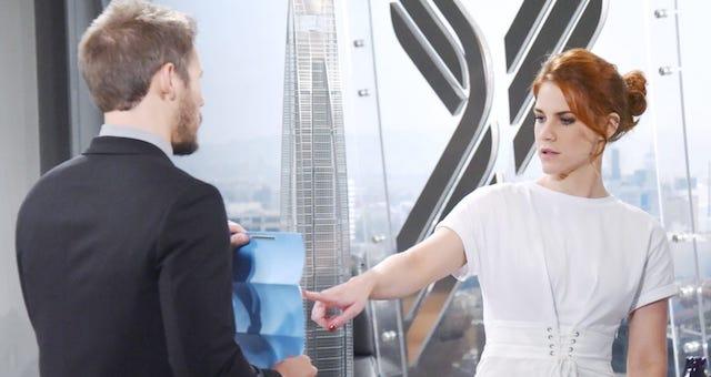 Beautiful |  anticipazioni americane |  LIAM regala a SALLY la proprietà dell'edificio SPECTRA
