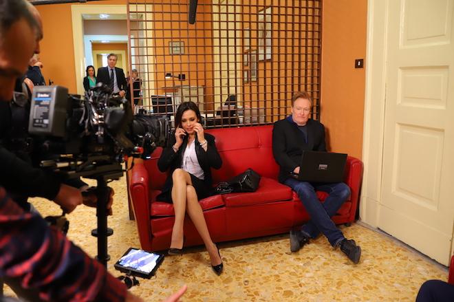 Backstage Valentina Pace e Conan O'Brien