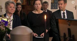 Funerale di David, Tempesta d'amore © Screenshot da Facebook