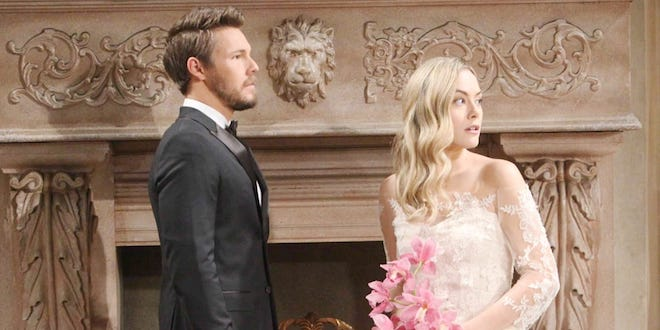 HOPE e LIAM, matrimonio / Beautiful (foto CBS / JPI Studios)