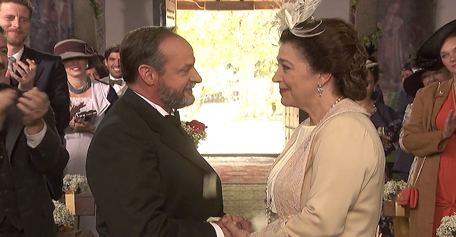 Sposalizio a Il segreto: Francisca e Raimundo marito e moglie