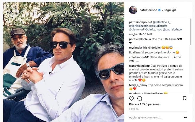 Raffaele, Filippo e Eugenio (foto da Instagram)