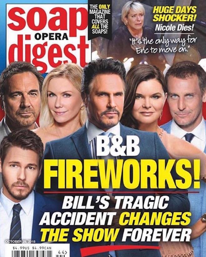 L'incidente di Bill Spencer su Soap Opera Digest