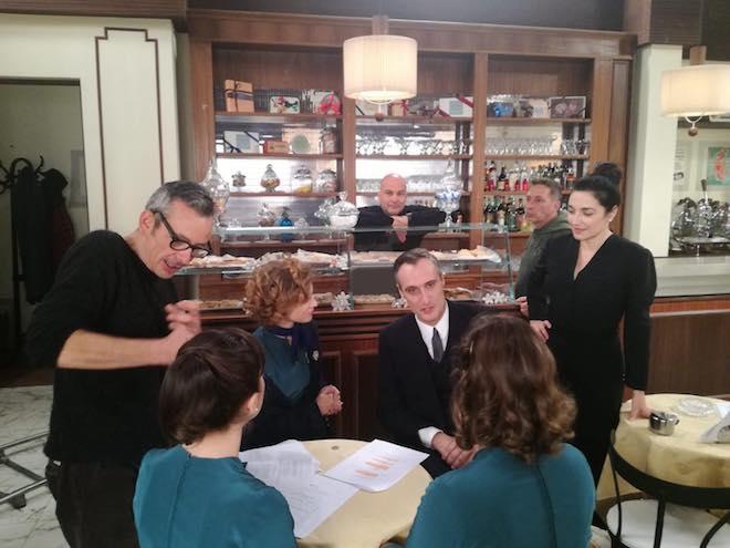 Jgor Barbazza (Oscar Bacchini) sul set de Il paradiso delle signore
