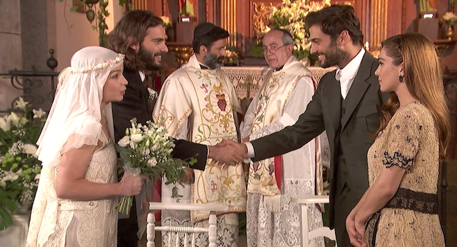 ISAAC e ANTOLINA, matrimonio a Il segreto