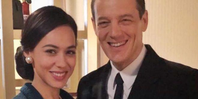 Desirée Noferini (Lisa) con Giorgio Lupano (Luciano) / foto da Instagram