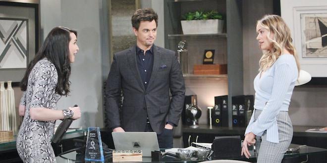 Quinn, Wyatt e FLO (Beautiful) / Copyright foto: CBS e JPI Studios