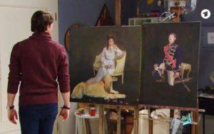 Joshua vede i dipinti di Dora e George, Tempesta d'amore (Screenshot)