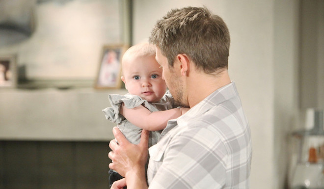 Beautiful: LIAM con la piccola BETH / Foto copyright: CBS e JPI studios