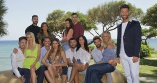 Le coppie di TEMPTATION ISLAND 2019 con FILIPPO BISCIGLIA (courtesy Mediaset)