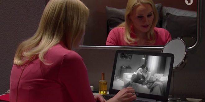 Annabelle spia Denise e Joshua, Tempesta d'amore © ARD (Screenshot)