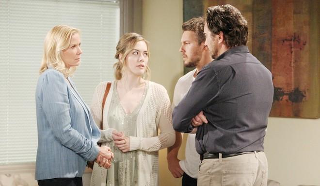 Brooke, Hope, Liam e Ridge / Copyright foto: CBS - JPI Studios