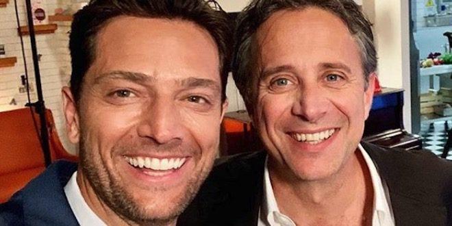 Luca Capuano e Paolo Romano di Un posto al sole / Foto da Instagram