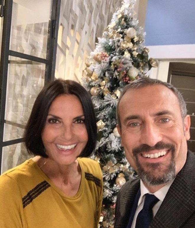 Natale a Un posto al sole: NINA SOLDANO (Marina) e GIORGIO BORGHETTI (Fabrizio)