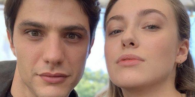 Gli attori PIETRO MASOTTI (Marcello Barbieri) e ALESSIA DEBANDI (Angela Barbieri) / Il paradiso delle signore