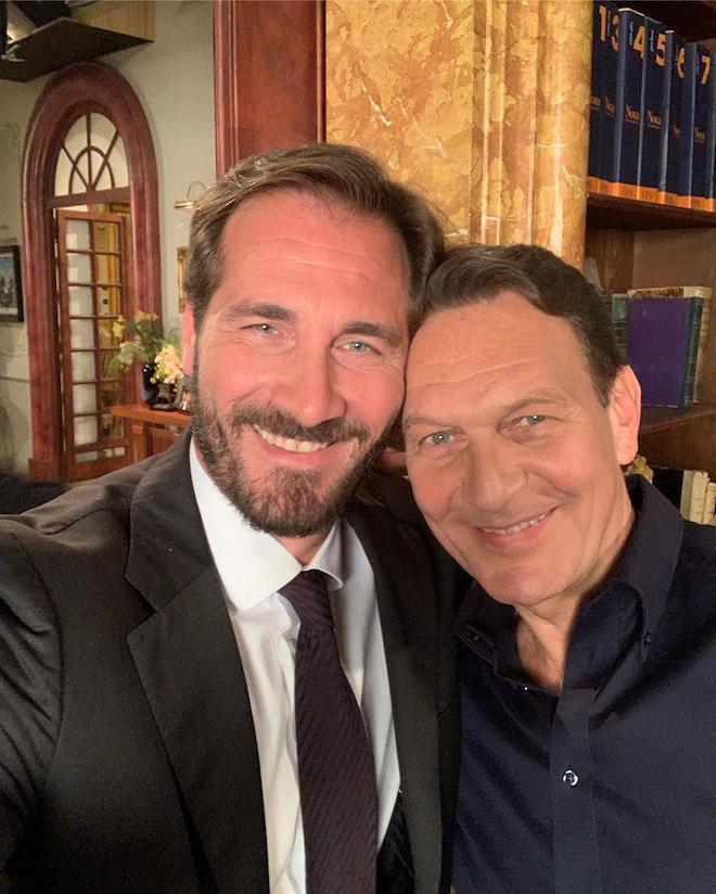 Maurizio Aiello e Riccardo Polizzy Carbonelli (foto dalla pagina Facebook di Riccardo)