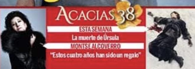 La morte di URSULA in copertina su Telenovela