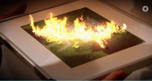 Il Furstenhof a fuoco, Tempesta d'amore © ARD (Screenshot)