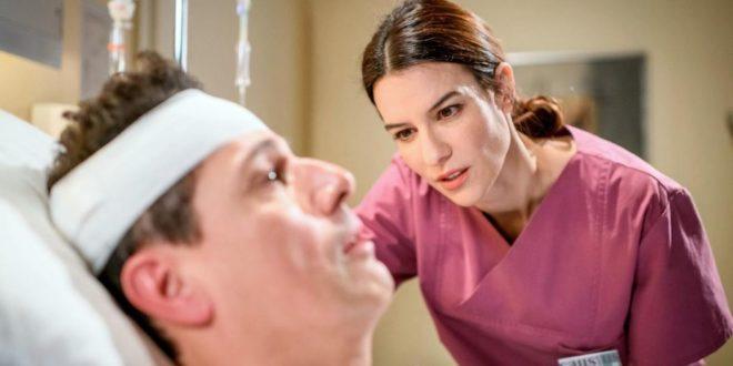 Nadja manipola Dirk in ospedale, Tempesta d'amore © ARD Christof Arnold