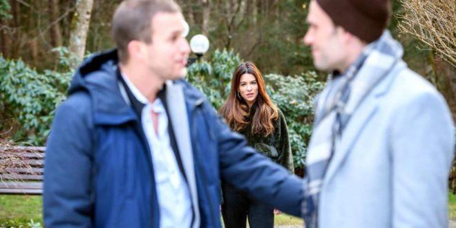 Nadja vede Tim parlare con Steffen, Tempesta d'amore © ARD Christof Arnold