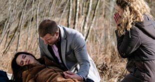 Tim e Franzi soccorrono Nadja dopo la sua caduta, Tempesta d'amore © ARD Christof Arnold