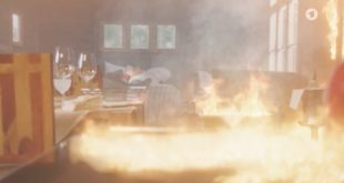 Christoph rischia di morire in un incendio, Tempesta d'amore © ARD Screenshot