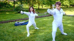 Vanessa e Robert si allenano insieme, Tempesta d'amore © ARD Christof Arnold