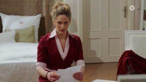 Franzi scopre che Nadja ha subito un aborto spontaneo, Tempesta d'amore © ARD Screenshot