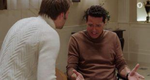 Steffen affronta Dirk, Tempesta d'amore © ARD Screenshot