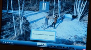 Steffen pensa di cancellare il video che scagiona Franzi, Tempesta d'amore © ARD Screenshot