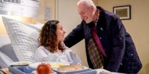Alfons fa visita a Vanessa in ospedale, Tempesta d'amore © ARD Christof Arnold
