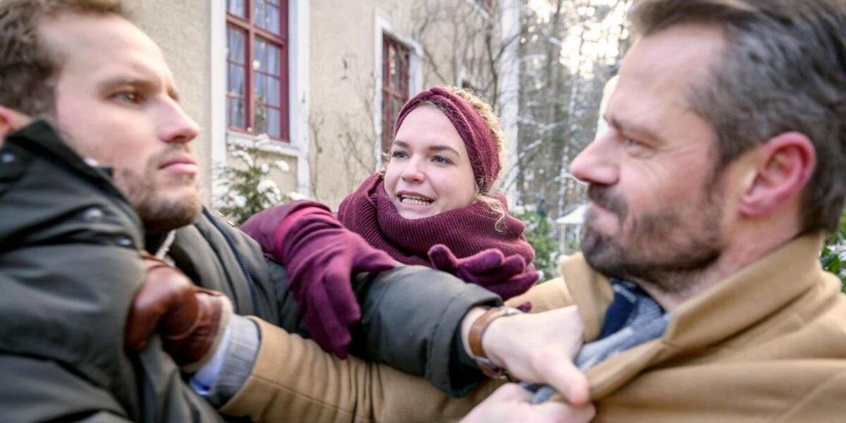 Tempesta d'amore    anticipazioni tedesche    Florian scopre che Erik ha costretto Maja a tradirlo!