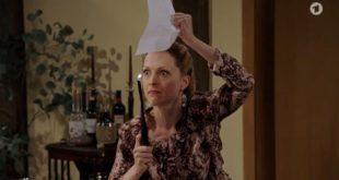Rosalie minaccia bruciare ricette, Tempesta d'amore © ARD (Screenshot)