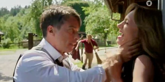 Robert strangola Ariane, Tempesta d'amore © ARD (Screenshot) (1)