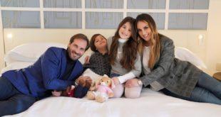 Maurizio Aiello (con la sua famiglia)