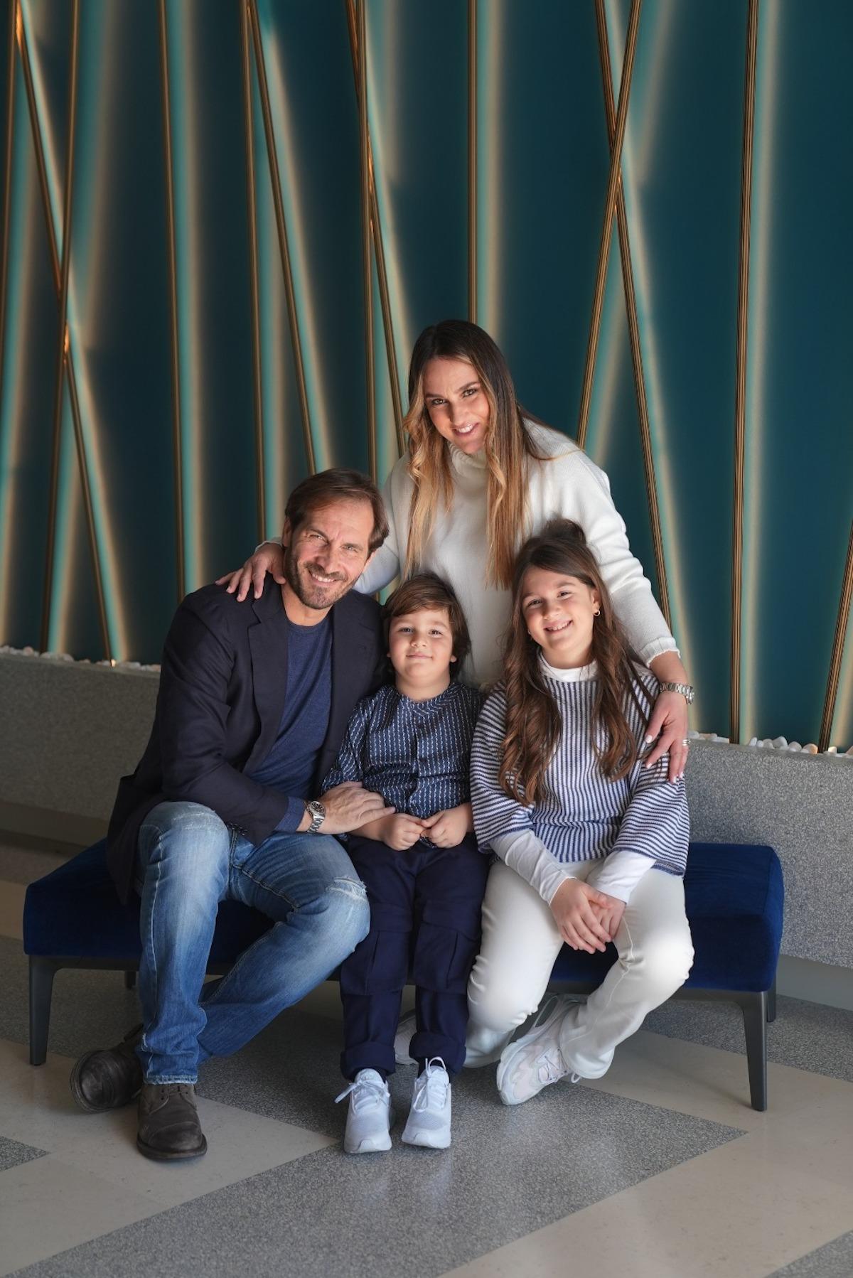 Maurizio Aiello con la sua famiglia