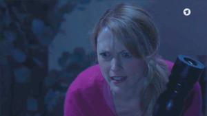 Rosalie colpisce Michael scambiandolo per un ladro, Tempesta d'amore © ARD (Screenshot)