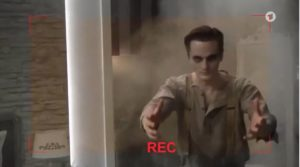 Lucy e Joell registrano un video, Tempesta d'amore © ARD (Screenshot)
